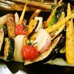 有機野菜の炭火焼き盛り合わせ
