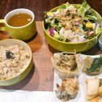 サラダセット(有機玄米・スープ・おかず4品)900円