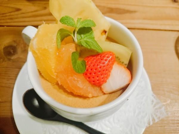 ほうじ茶と沖縄産黒糖のプリン