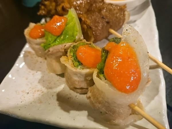 白菜と明太子豚巻き 320円