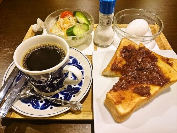小倉あんトーストモーニング 480円
