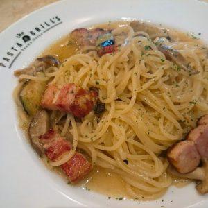 ピリリと辛味がきいたペペロンチーノ