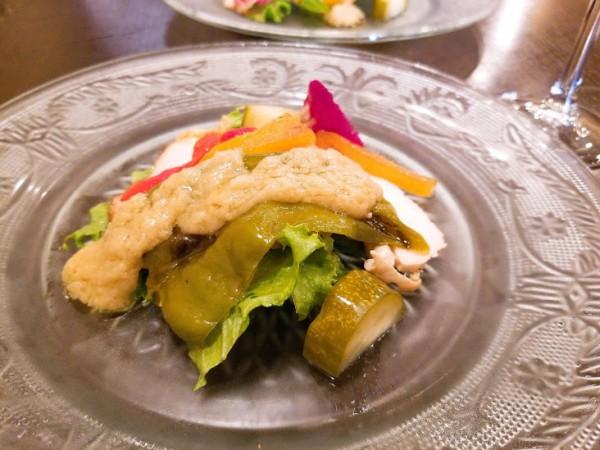 さつま純吟鶏のサラダ バーニャフレッダ